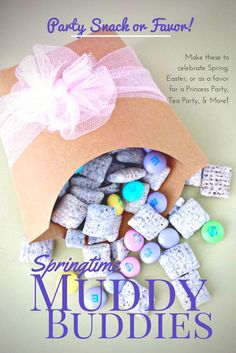 Springtime or Princess Muddy Buddies Recipe - Party Ideas: Spring Treats & Cute and Clever Packaging Ideas