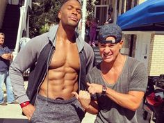 """""""Live! with Kelly & Michael"""" co-host Michael Strahan showed how he easily fits in as one of the """"Magic Mike"""" guys."""