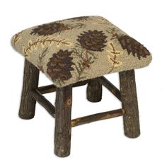 Add a little rustic touch to any room with this wonderful Northwoods Pine Cone Hickory Stool 15 Cabin Furniture, Rustic Furniture, Furniture Ideas, Rustic Design, Rustic Decor, Rustic Style, Farmhouse Decor, Rustic Interiors, Accent Furniture