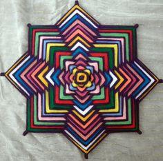 mandalas de lana - Buscar con Google 8 point ojo de dios