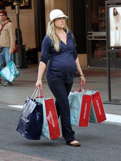 Go for a spot of shopping for both you and your soon-to-be child.