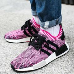 Available Now: Women's Adidas NMD R1 Shock Pink Black BB2363