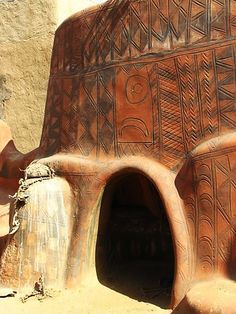 Painted houses of Tiebele, Burkano Faso - Africa