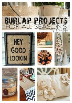 How to decorate with burlap; 10 fabulous projects by diy beautify
