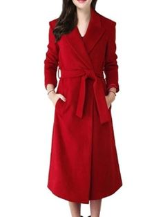 Plain With Pockets Trendy Lapel Overcoats Only $46.45 USD More info...