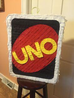 UNO piñata I made for a 1st birthday!