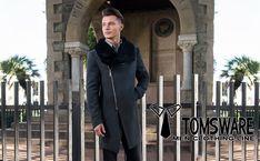 Tom's Ware Mens Premium Wool Blend Pea Coat TWNFD075J-C11-BLACK-US L at Amazon Men's Clothing store: