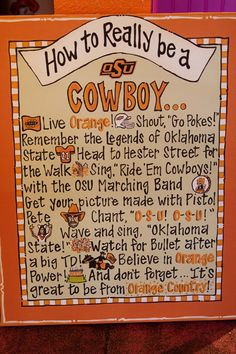 @Erin Gerlich Ambrose I pinned this for you before you were on pinterest. I'm repinning it at you now :-)   OK State...This reminded me of my friend Erin but it also makes me want to make a Iowa State sign