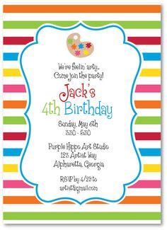 art party invitations!