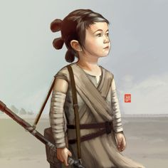 Young Rey - Star Wars The Force Awakens by Sheharzad-Arshad