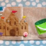 Build a sand castle quiet book page