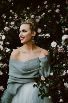 Covering up for your winter wedding doesn't mean you won't look hot| photo by Heather Burris Photography, wedding dress by Sweet Caroline Styles, sweater by Cupshe