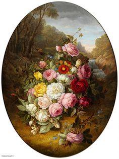 Цветы в парковомпейзаже ( Large Spray Of Flowers