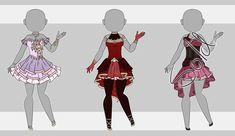 Dress Adopt Set 6 (2/3 Open) by VioletAether.deviantart.com on @DeviantArt