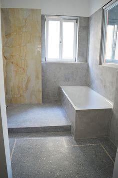 moderne fugenlose badezimmer wandgestaltung | Fugenlose Badezimmer ...