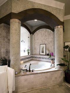 mediterranean bathroom design pictures remodel decor and ideas columns - Mediterranean Bathroom Design