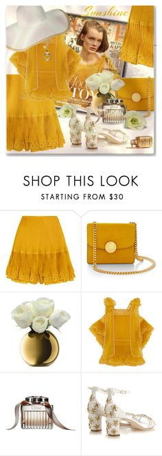 """""""Sunshine...."""" by qiou ❤ liked on Polyvore featuring Chloé, Marc Jacobs, LSA International, Gucci, Merona and Dolce&Gabbana"""