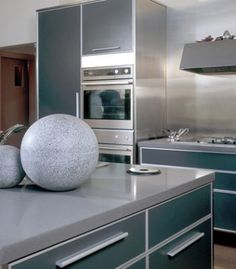 All Caesarstone quartz surfaces are easy to clean and maintain. Kitchen And Bath, New Kitchen, Home Remodeling Contractors, Blue Cabinets, Contemporary Kitchen Design, Concrete Countertops, Bath Remodel, Best Interior, Studio