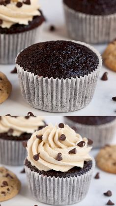 Chocolate Chip Cupcakes, Chocolate Chip Cookie Dough, Oreo Cupcakes, Cookies And Creme Cupcakes, Chocolate Cupcakes From Scratch, Chocolate Cupcakes Decoration, Cookies And Cream Frosting, Cupcakes For Men, Nutella Cupcakes