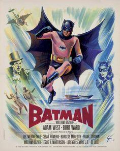 BATMAN Film de Leslie H. Martinson (1966). Affiche de Boris GRINSSON (55x45 cm). Imp. M. Nourisson (Issy-les-Moulineaux) - Kapandji Morhange - 06/10/2014