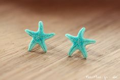 Starfish Post Earrings / Studs - Turquoise Mint