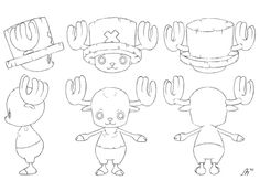 Chopper do anime One Piece Character Turnaround, One Piece Chopper, Manga Tattoo, One Piece Drawing, Naruto Images, Character Design Animation, Anime One, Character Sheet, Cool Art