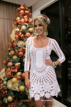 New Woman's Crochet Patterns Part 58 - Beautiful Crochet Patterns and Knitting Patterns Crochet Skirts, Crochet Tunic, Crochet Clothes, Knit Crochet, Crochet Wedding Dresses, Crochet Woman, Irish Lace, Crochet Fashion, Crochet Designs