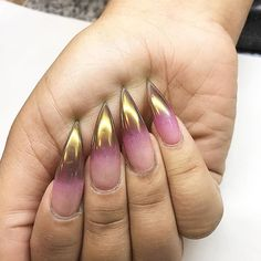 Ombre chrome  #nails #naildesigns