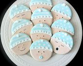 Items similar to Decorated Baby Shower Cookies- Cute Baby Faces in your gender choice on Etsy