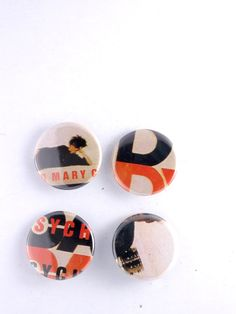 Jesus and Mary Chain Pins Psychcandy LP Cover Buttons Goth Indie Badge Set by JeepsterVintage on Etsy