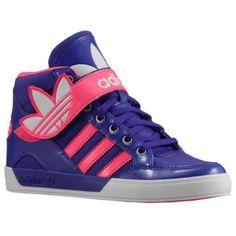 adidas Originals Hard Court Hi Strap - Girls' Preschool - Black/Blast Pink/Running White