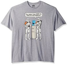 Star Wars Men's Water Cooler T-Shirt, Athletic Heather, X-Large