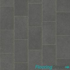 Grey Oblong Slate Effect Vinyl Flooring Kitchen Bathroom 2m Lino Cushion Floor