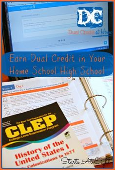 Earn Dual Credit in Your Home School High School introduces a program called Dual Credit at Home to help your high school student earn college credit while homeschooling. High School Years, In High School, High School Students, Public School, Middle School, School School, School Classroom, School Stuff, Homeschool High School