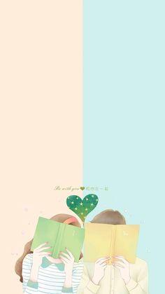 in cover # Random # amreading # books # wattpad Cartoon Wallpaper, Kawaii Wallpaper, Love Wallpaper, Cute Couple Art, Anime Love Couple, Cute Anime Couples, Cute Wallpaper Backgrounds, Cute Wallpapers, Cover Wattpad
