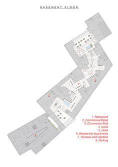 AGi Architects Reveal Finalist Proposal for Mashhad City Complex in Iran,Basement Plan