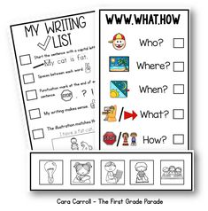 Fab 5 for Writing! Anchor Charts and Student Rubric