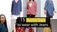 Kurti Designs according to Different Age Groups Kurtis Tops, Fashion Basics, Basic Style, Stylish Dresses, Different, Cover Up, Age, Jeans, Youtube