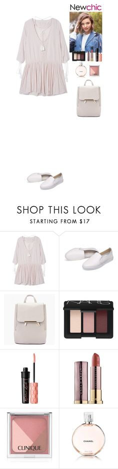 """""""White outfit Newchic"""" by eliza-redkina ❤ liked on Polyvore featuring Kerr®, NARS Cosmetics, Benefit, Urban Decay, Clinique and Chanel"""