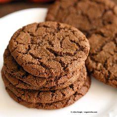 One Bowl Giant Ginger Molasses Cookies (vegan)