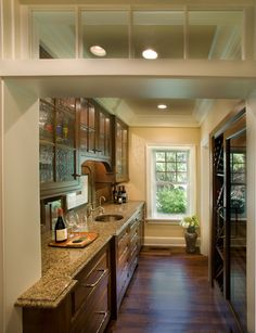 I LOVE that little row of windows when entering the kitchen.  Pictures +of +small +galley+ Kitchens+ With+ Pennisula Design, Pictures, Remodel, Decor and Ideas - page 11