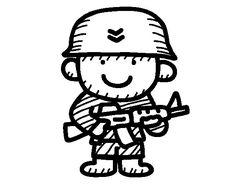 Resultado de imagen para imagenes de soldados animados para colorear