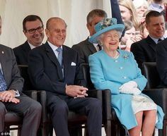 The Queen and Prince Philip were unable to contain their laughter during a performance at ...