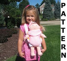 Crochet Pattern for Baby Doll Carrier and von CrochetNPlayDesigns