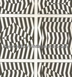 vintage 1970's optic illusion pattern art print book plate black & white pop art design retro home decor mod geometric picture wall 89 90 by RecycleBuyVintage on Etsy