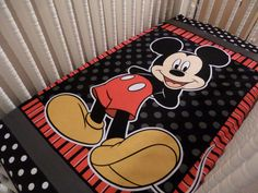Oh Sew Cute Disney Mickey Mouse . CRIB or Toddler fitted sheet by SewCuteInTheCountry on Etsy.com