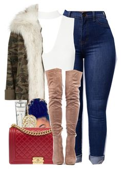 """""""1029"""" by tuhlayjuh ❤ liked on Polyvore featuring River Island, M.A.C, Fred Leighton and Chanel"""
