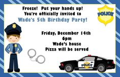 Boy Police Birthday Party Invitations by ExpressionsPaperie, $11.00