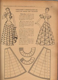 Vintage 1940s Skirt Pattern Draft