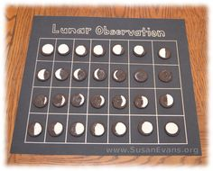 Lunar Observation Chart with Oreos - http://susanevans.org/blog/moon-unit-study/
